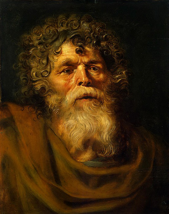 Old mans head. Study for the painting Christ Crowned with Thorns. Peter Paul Rubens