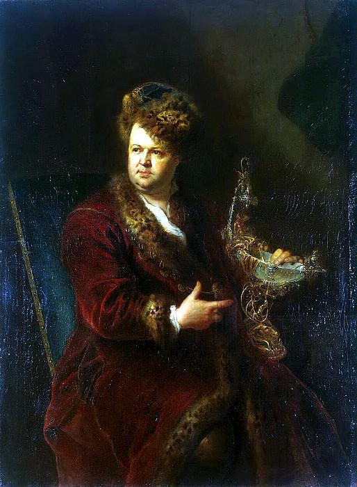 Peng, Antoine - Portrait of Johann Melchior Dinglingera. Hermitage ~ part 10