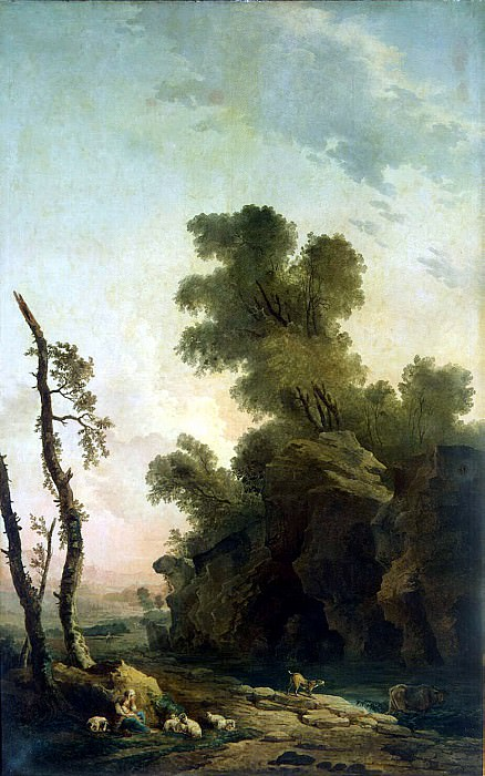 Robert, Hubert - Landscape with rocks. Hermitage ~ part 10