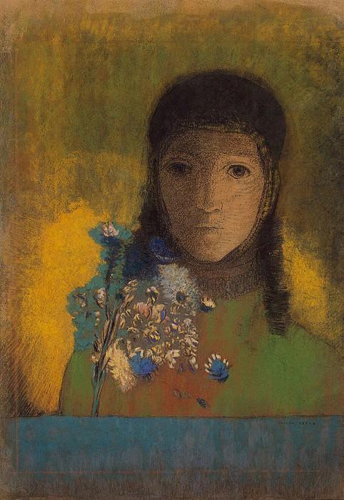 Redon, Odilon - Woman with wildflowers. Hermitage ~ part 10