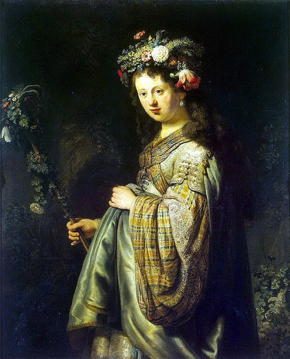 Rembrandt, Harmenszoon van Rijn - Flora. Hermitage ~ part 10