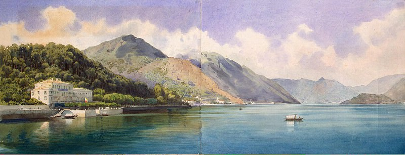 Premazzi, Luigi - View of Lake Geneva. Hermitage ~ part 10
