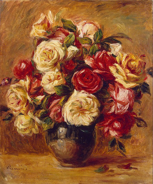 Renoir, Pierre-Auguste - Bouquet of Roses. Hermitage ~ part 10
