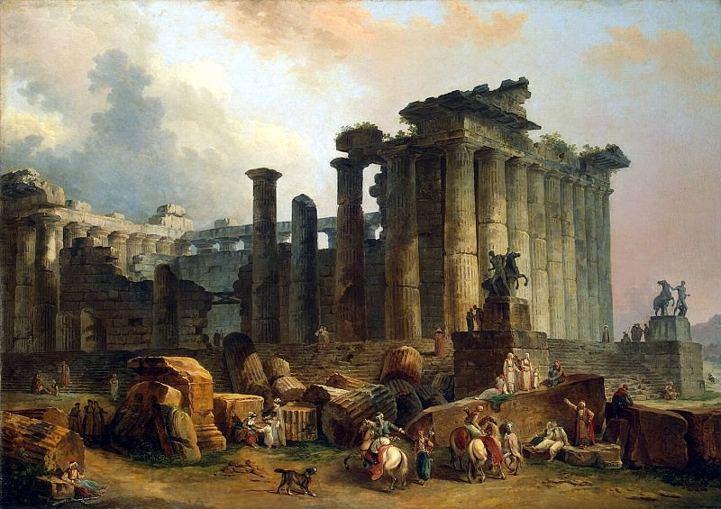 Robert, Hubert - Ruins of the Doric temple. Hermitage ~ part 10