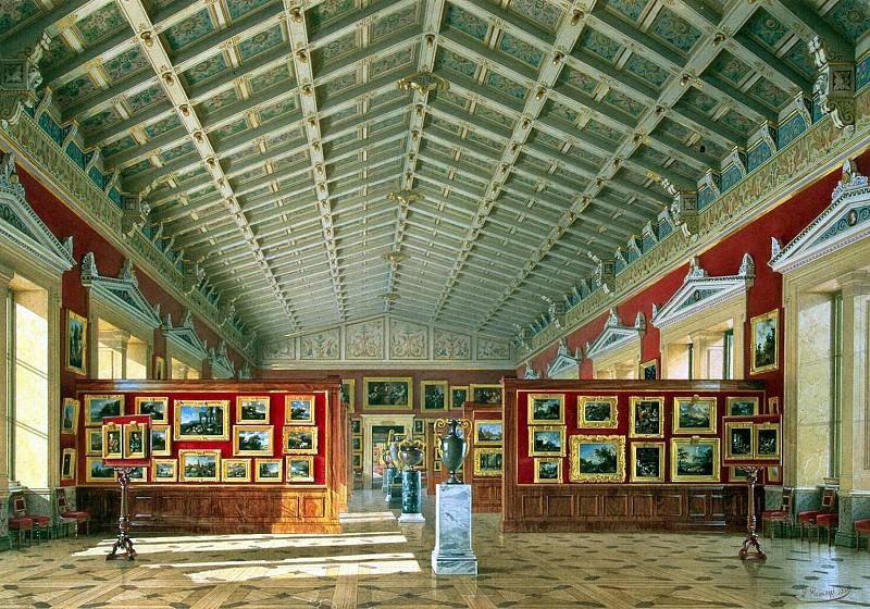 Premazzi, Luigi - Types halls of the New Hermitage. Hall of Dutch and Flemish schools. Hermitage ~ part 10