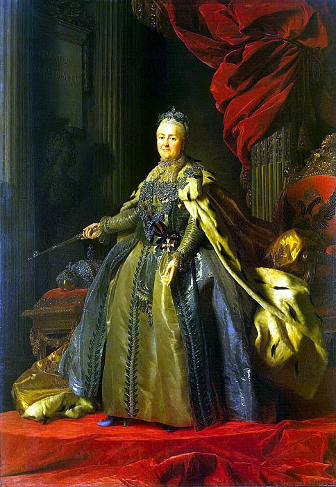 Roslin, Alexander - Portrait of Catherine II. Hermitage ~ part 10