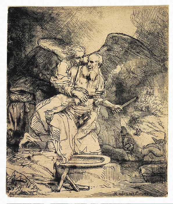 Rembrandt, Harmenszoon van Rijn - The Sacrifice of Abraham (2). Hermitage ~ part 10
