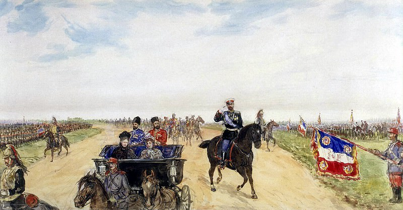 Piasecki, Pavel Ya - The Emperors motorcade on the way to strengthen Betheny. Hermitage ~ part 10