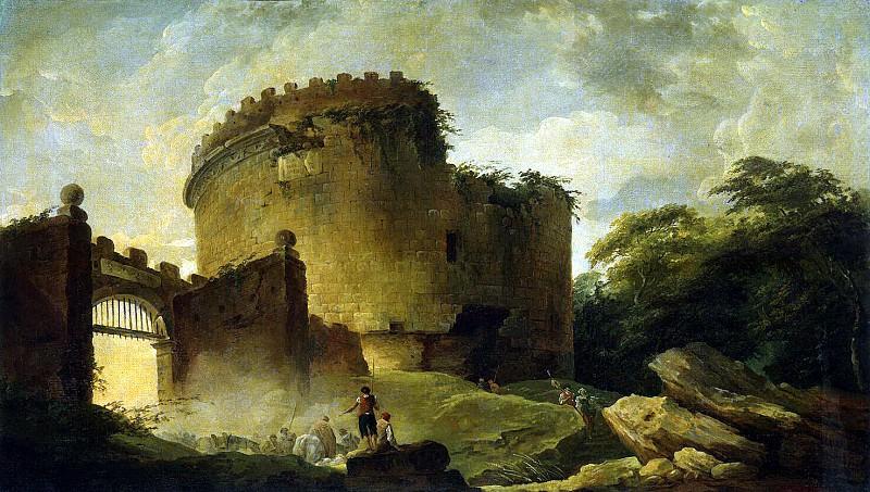 Robert, Hubert - The Tomb of Cecilia Metella. Hermitage ~ part 10