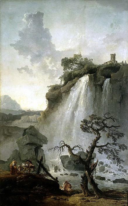 Robert, Hubert - Landscape with waterfall. Hermitage ~ part 10