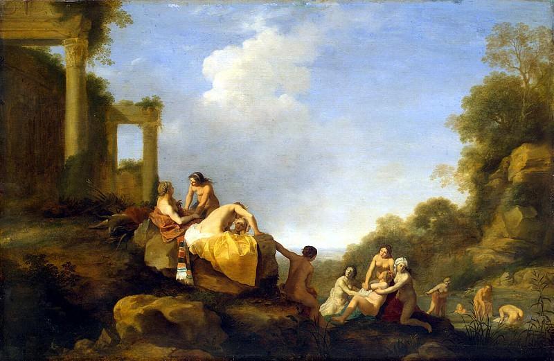 Pulenburg, Cornelis van - Landscape with Diana and Callisto. Hermitage ~ part 10