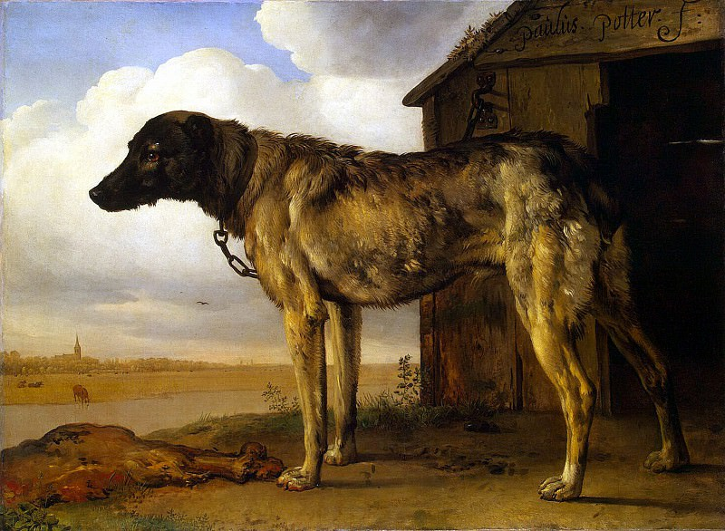 Potter, Paulus - Chained Dog. Hermitage ~ part 10