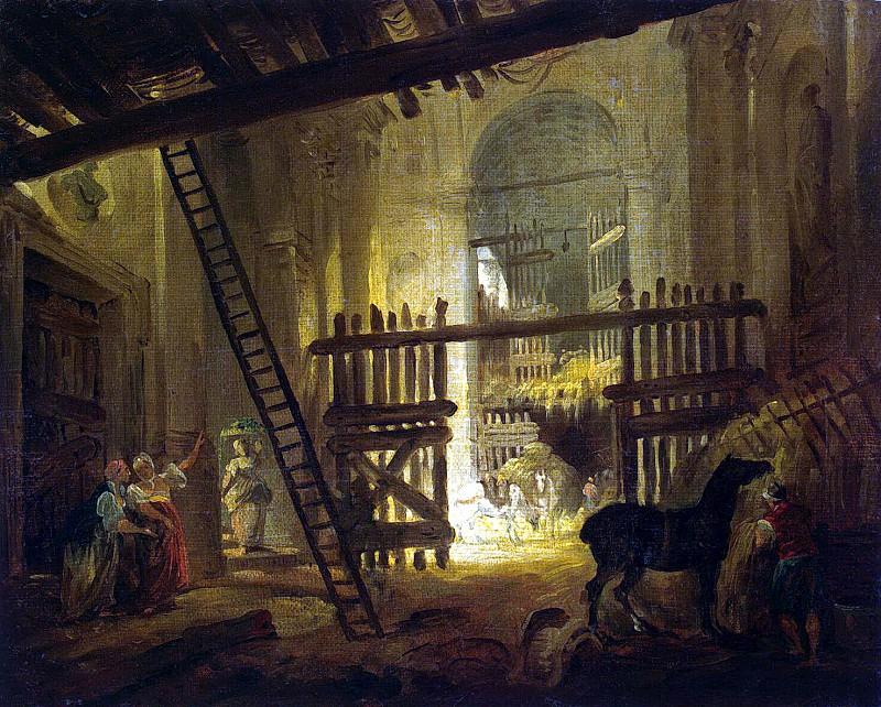 Robert, Hubert - Stables in the ruins of Villa Giulia. Hermitage ~ part 10