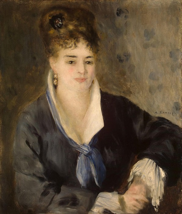 Renoir, Pierre-Auguste - Lady in Black. Hermitage ~ part 10