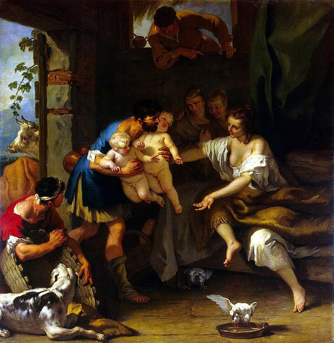 Ricci, Sebastiano - Childhood of Romulus and Remus. Hermitage ~ part 10