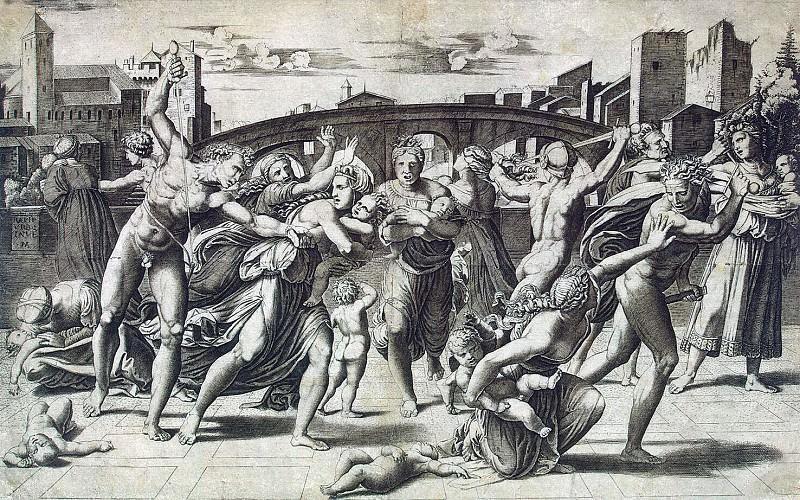 Raimondi, Marcantonio - Massacre of the Innocents. Hermitage ~ part 10