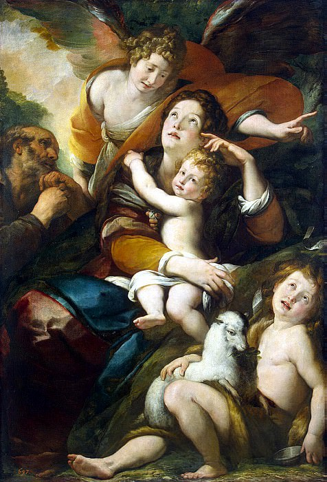 Procaccini, Giulio Cesare - The Holy Family with John the Baptist and an angel. Hermitage ~ part 10