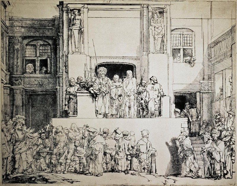 Rembrandt, Harmenszoon van Rijn - Christ to the people. Hermitage ~ part 10