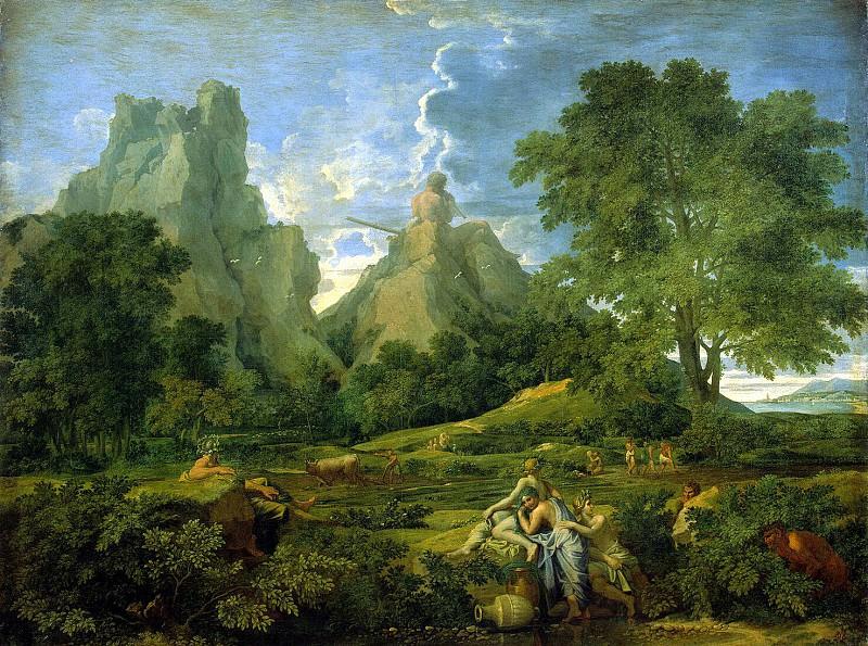 Poussin, Nicolas - Landscape with Polyphemus. Hermitage ~ part 10