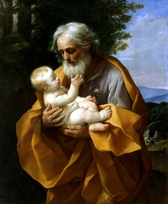 Reni, Guido - Joseph and the Christ child in her arms. Hermitage ~ part 10