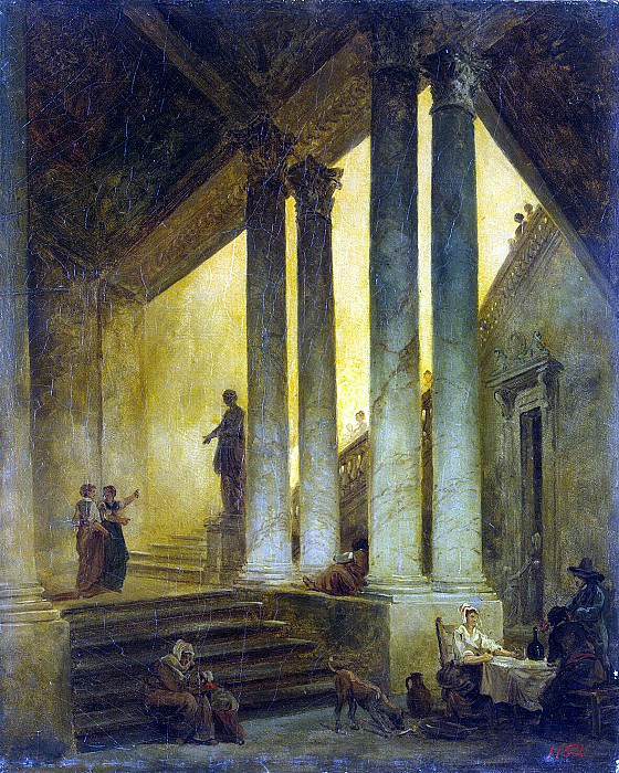 Robert, Hubert - Staircase with columns. Hermitage ~ part 10