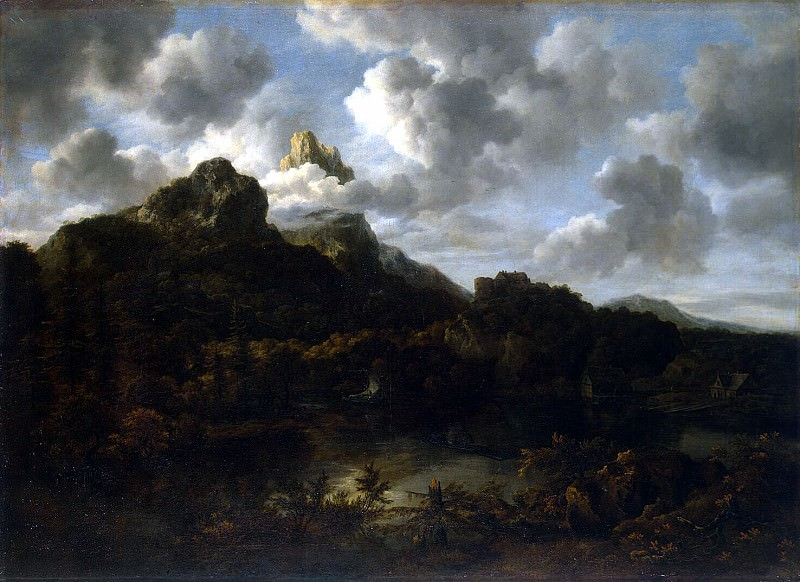 Ruisdael, Jacob van ai - Mountain landscape. Hermitage ~ part 10