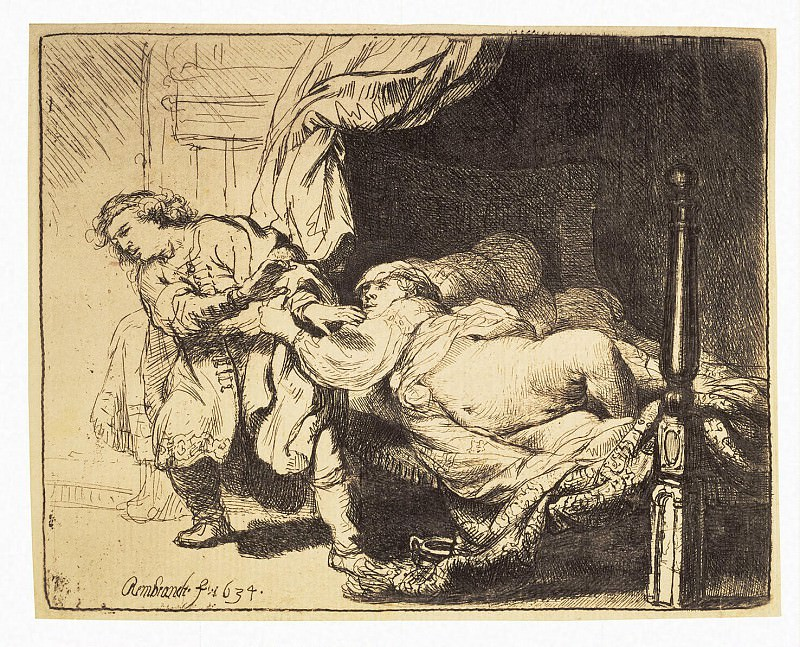 Rembrandt, Harmenszoon van Rijn - Joseph and Potiphars wife. Hermitage ~ part 10