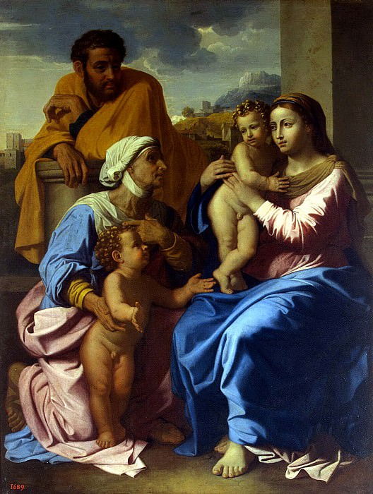 Poussin, Nicolas - The Holy Family with St.. Elizabeth and St. John the Baptist. Hermitage ~ part 10