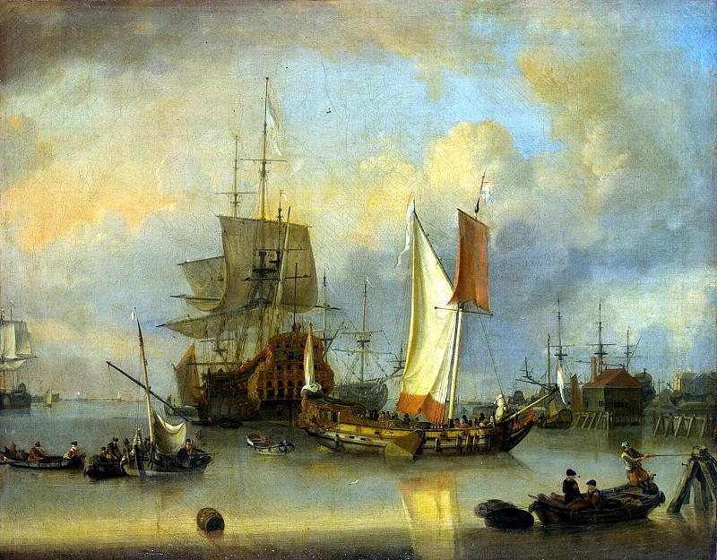 Ritshof, Jan Klas - Boats at sea in calm weather. Hermitage ~ part 10
