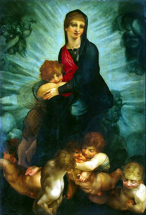 Россо, Джованни Баттиста - Мадонна с младенцем и ангелами. Эрмитаж ~ часть 10