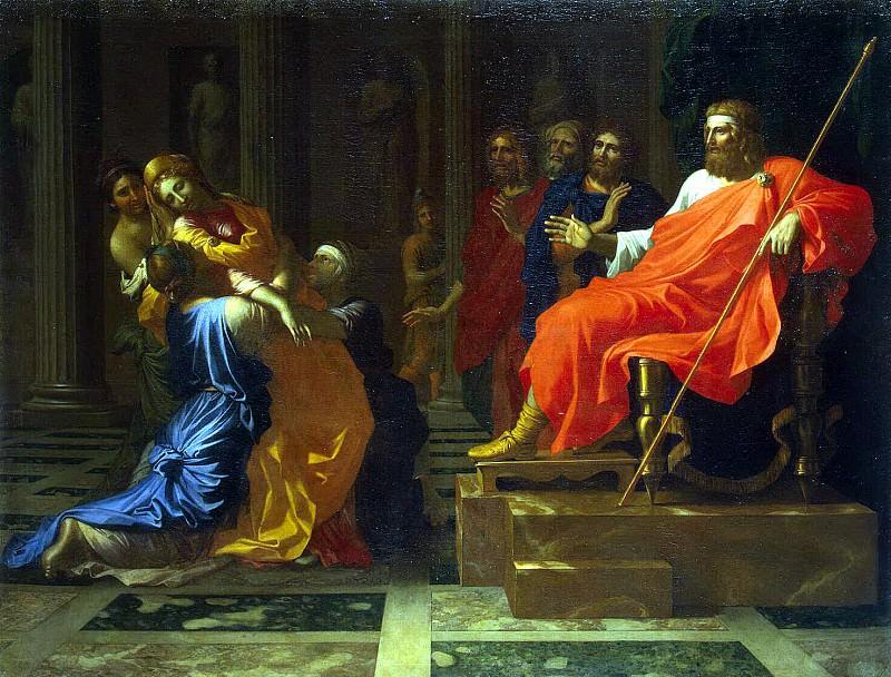 Poussin, Nicolas - Esther before Ahasuerus. Hermitage ~ part 10