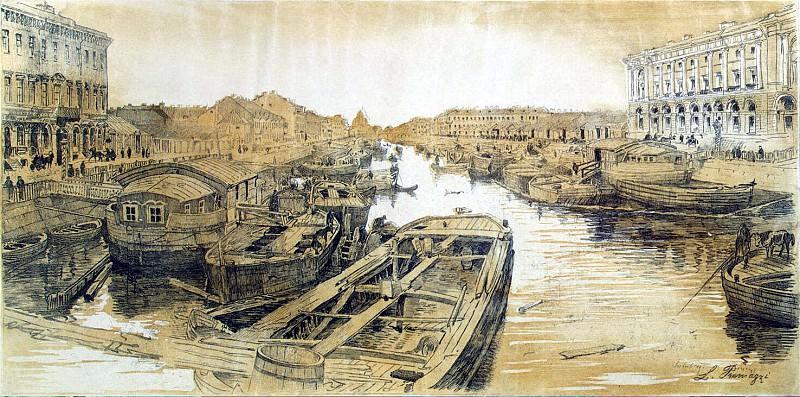 Premazzi, Luigi - Fontanka Chernyshev Bridge, St. Petersburg. Hermitage ~ part 10