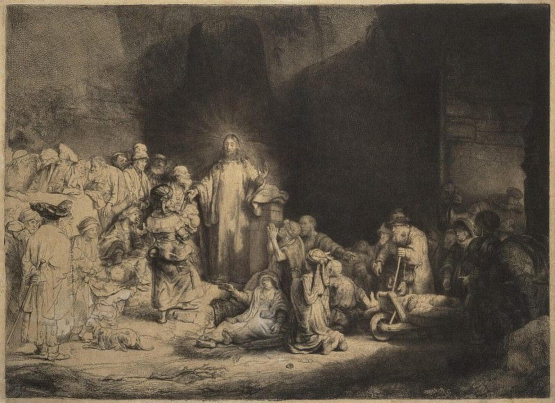 Rembrandt, Harmenszoon van Rijn - Christ, heal the sick. Hermitage ~ part 10