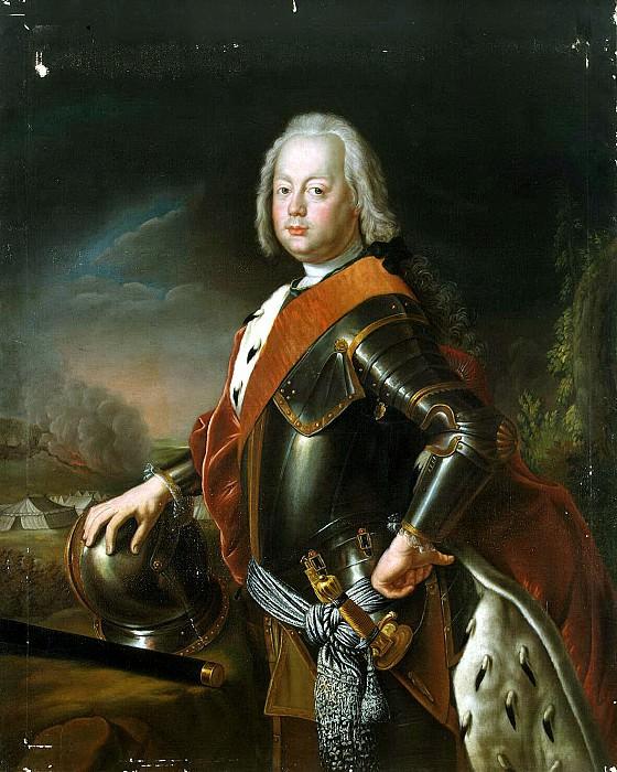 Peng, Antoine - Portrait of Christian August of Anhalt-Zerbst. Hermitage ~ part 10