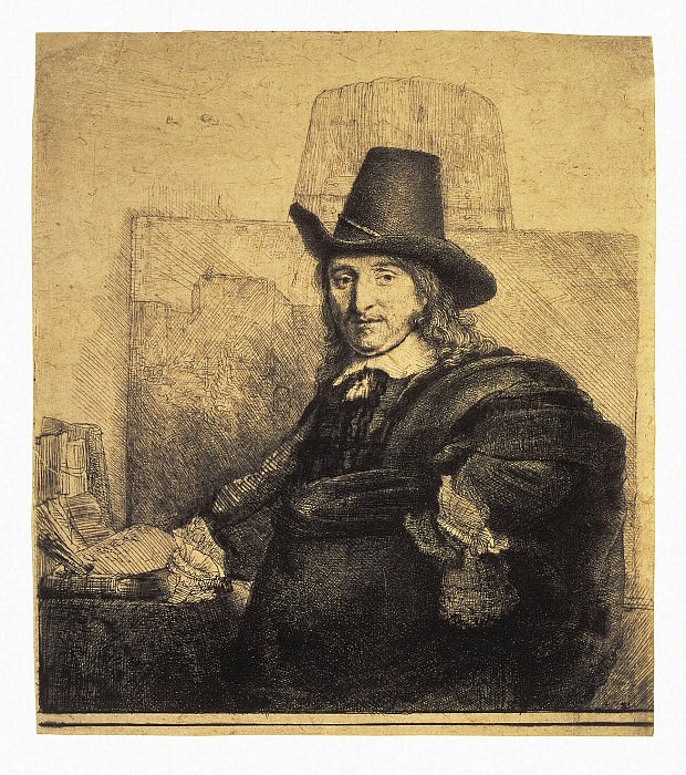 Rembrandt, Harmenszoon van Rijn - Portrait of the painter Jan Asseleyna. Hermitage ~ part 10