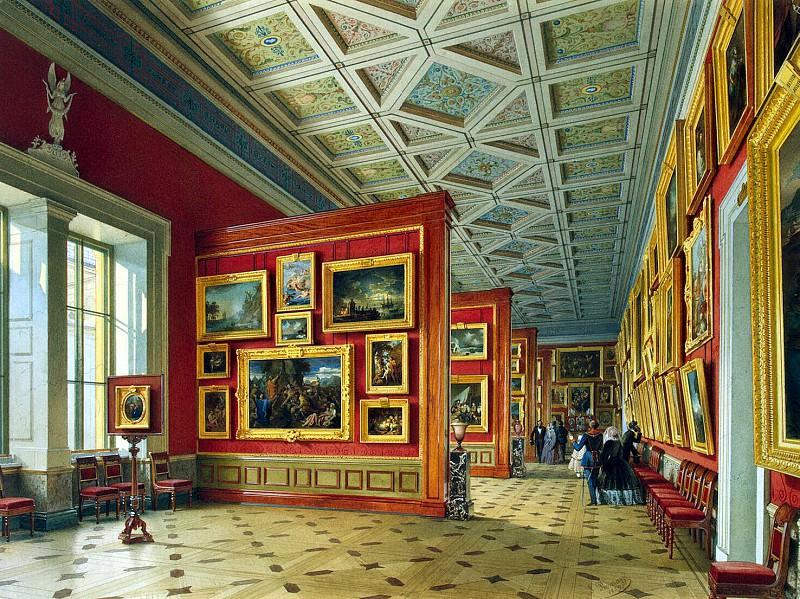 Premazzi, Luigi - Types halls of the New Hermitage. Room French School. Hermitage ~ part 10