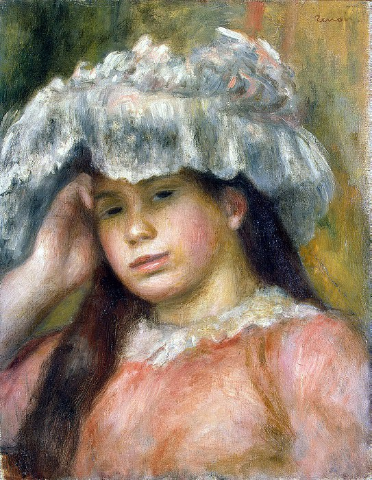 Renoir, Pierre-Auguste - The girl in the hat. Hermitage ~ part 10