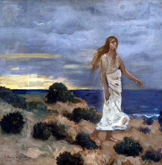 Puvis de Chavannes, Pierre - Woman on the beach. Hermitage ~ part 10