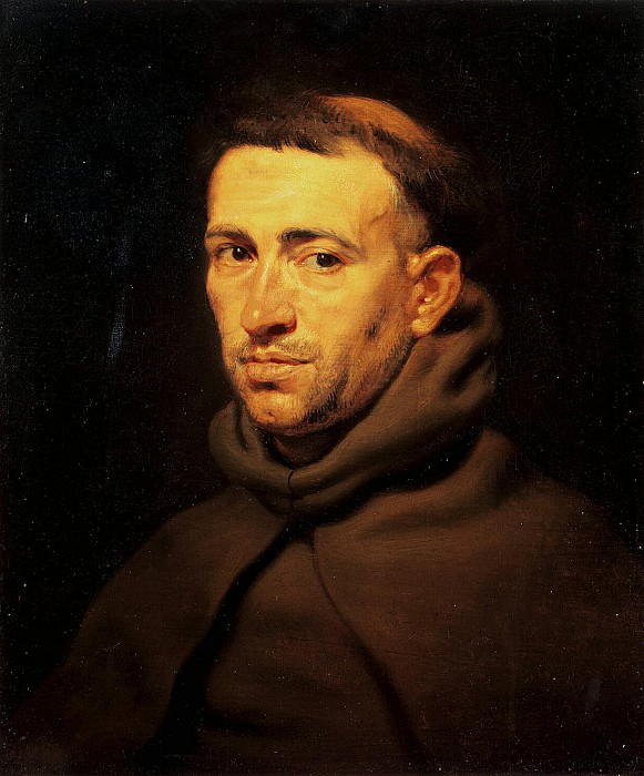 Rubens Head of a Franciscan Friar. Peter Paul Rubens