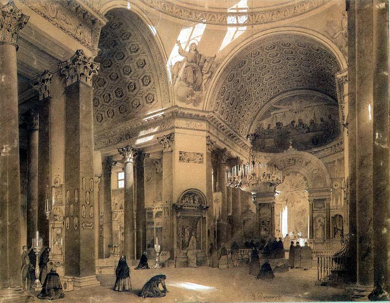 Premazzi, Luigi - Interior of the Kazan Cathedral in St. Petersburg. Hermitage ~ part 10