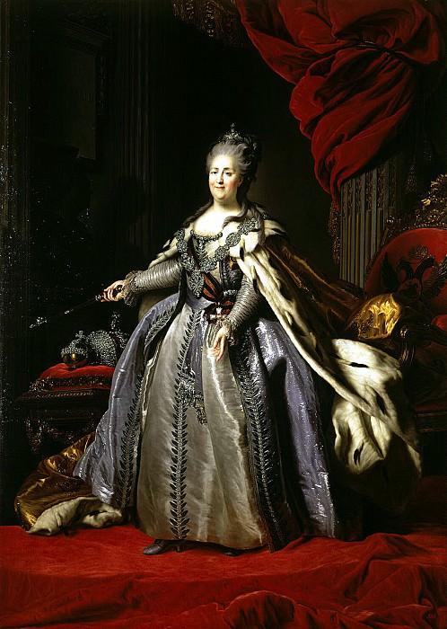 Rokotov, Fyodor Stepanovich - Portrait of Catherine II. Hermitage ~ part 10