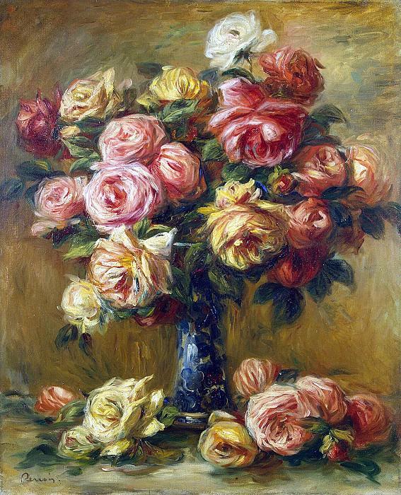 Renoir, Pierre-Auguste - Roses in a Vase. Hermitage ~ part 10
