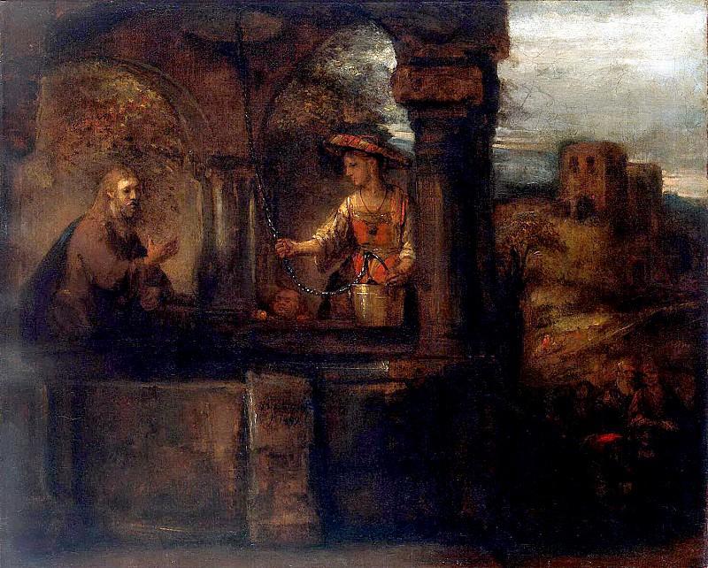 Rembrandt, Harmenszoon van Rijn - Christs conversation with the Samaritan woman. Hermitage ~ part 10