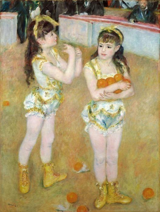 Акробаты Цирка Фернандо. Pierre-Auguste Renoir