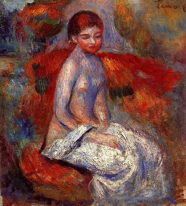 Nude Seated in a Landscape. Pierre-Auguste Renoir