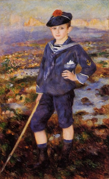 Sailor Boy (also known as Portrait of Robert Nunes) - 1883. Pierre-Auguste Renoir