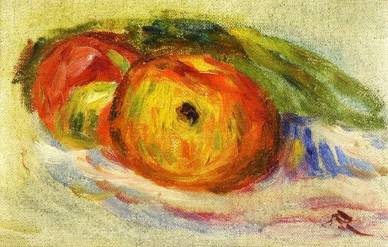 Two Apples. Pierre-Auguste Renoir
