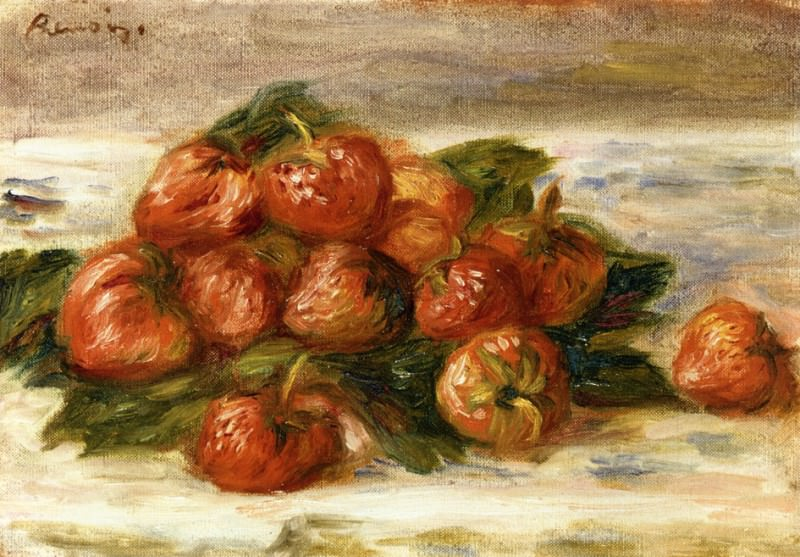 Still Life with Strawberries. Пьер Огюст Ренуар