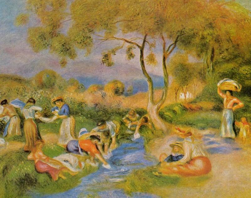 Laundresses at Cagnes - ок 1912. Pierre-Auguste Renoir