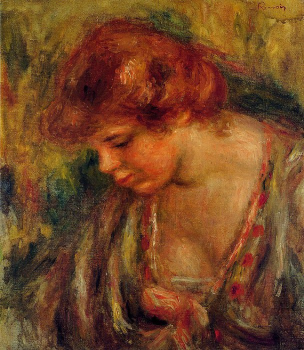 Profile of Andre Leaning Over - 1917. Pierre-Auguste Renoir